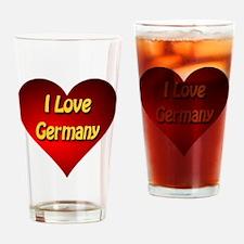 I Love Germany Drinking Glass