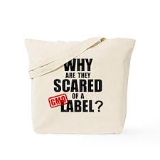 GMO Scared (Black) Tote Bag