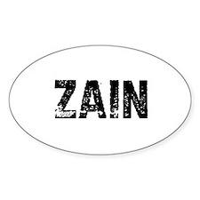 Zain Oval Decal
