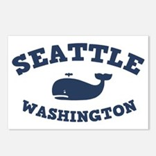 souv-whale-seattle-CAP Postcards (Package of 8)