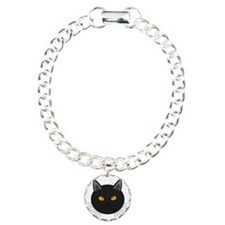 Black Cat-Face Artwork Bracelet