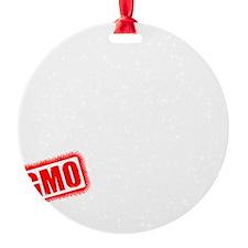 GMO Scared (White) Ornament