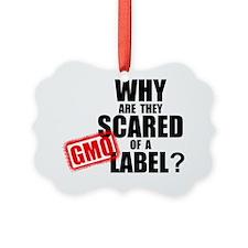 GMO Scared Yard Sign Ornament