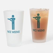 Nice Weenis Drinking Glass