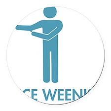 Nice Weenis Round Car Magnet