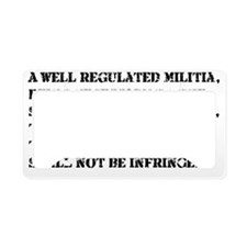 2nd  Amendment License Plate Holder