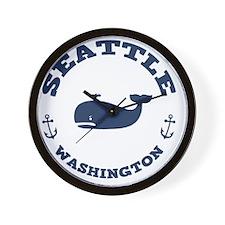 souv-whale-seattle-LTT Wall Clock