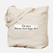 Bacon And Eggs diet Tote Bag