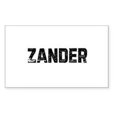Zander Rectangle Decal