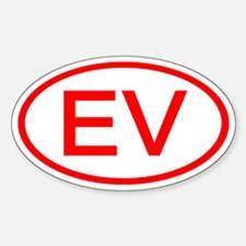 EV Oval (Red) Oval Decal