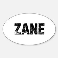 Zane Oval Decal