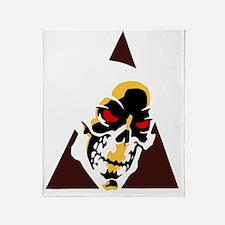 Skull  Triangle Throw Blanket