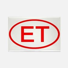ET Oval (Red) Rectangle Magnet