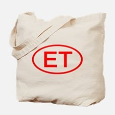 ET Oval (Red) Tote Bag