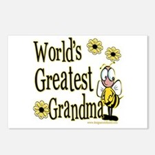 Grandma Bumble Bee Postcards (Package of 8)