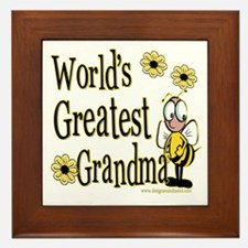 Grandma Bumble Bee Framed Tile