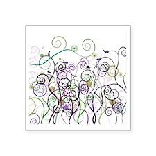 "Cool Swirl Pattern Square Sticker 3"" x 3"""