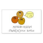 MRSA Rectangle Sticker