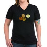 MRSA Women's V-Neck Dark T-Shirt