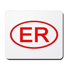 ER Oval (Red) Mousepad