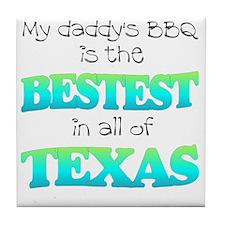 bestest in texas Tile Coaster