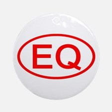 EQ Oval (Red) Ornament (Round)