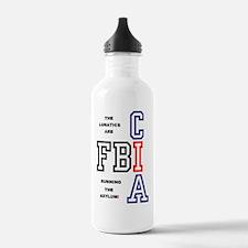 FBI - CIA - THE LUNATI Water Bottle