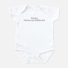 Chicken And Waffles diet Infant Bodysuit
