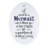 Mermaid Oval Ornaments