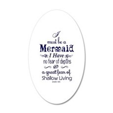 I Must Be A Mermaid Quote Wall Decal