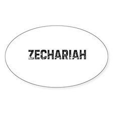Zechariah Oval Decal