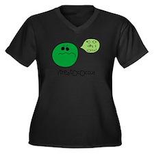 Streptococcus Women's Plus Size V-Neck Dark T-Shir