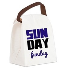 Sunday funday (black/blue) Typogr Canvas Lunch Bag