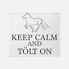 Keep Calm and Tolt On Throw Blanket