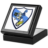 Blue knight Keepsake Boxes