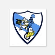 "Blue Knights Logo Square Sticker 3"" x 3"""