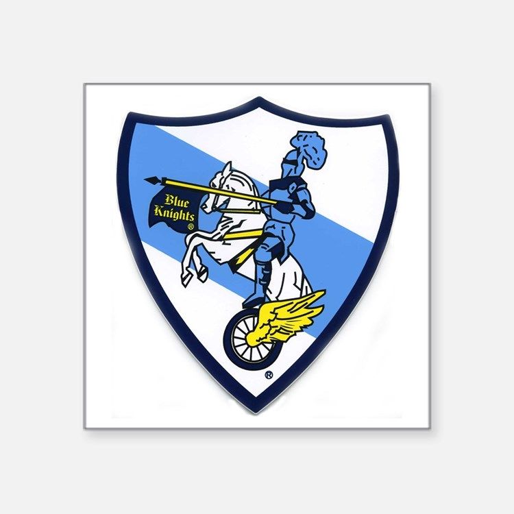 "Blue Knights Logo Square Sticker 3"" x 3"""