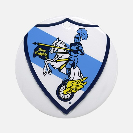 Blue Knights Logo Round Ornament