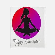 yoga instructor 3 Throw Blanket