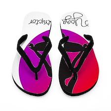 yoga instructor 3 Flip Flops