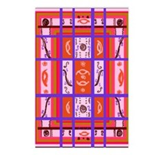 Curvy Plaid Abstract Art Postcards (Package of 8)