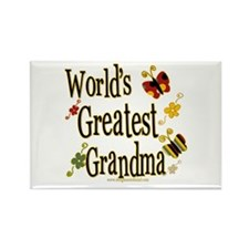 Grandma Butterflies Rectangle Magnet