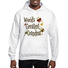 Grandma Butterflies Hooded Sweatshirt