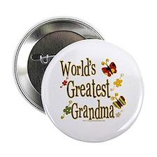 Grandma Butterflies Button