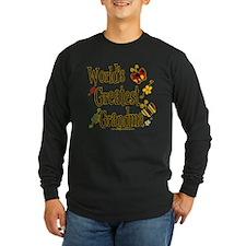 Grandma Butterflies Long Sleeve Dark T-Shirt