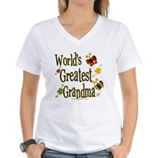 Grandma Butterflies Women's V-Neck T-Shirt