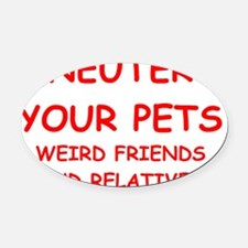 pets Oval Car Magnet