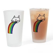 Rainbow Cat (large) Drinking Glass