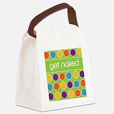Green Multi dot 2 Canvas Lunch Bag