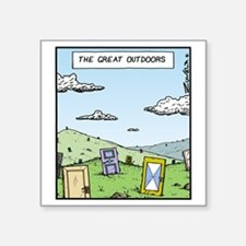 """The Great outdoors Square Sticker 3"""" x 3"""""""